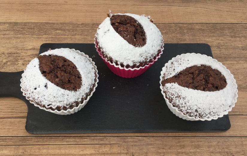 Muffin di caprese al cioccolato