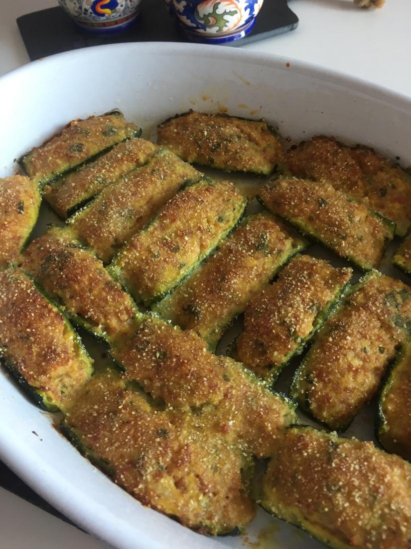 Zucchine ripiene alla ligure cotte al forno